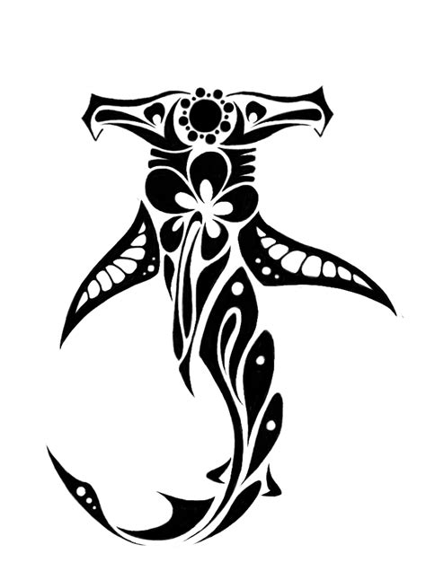 tribal shark tattoos hammerhead shark images designs