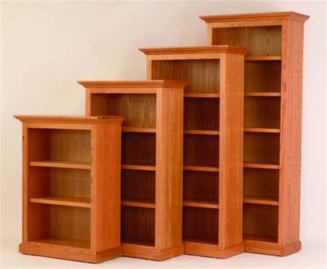 rustic solid wood bookcases at dutchcrafters