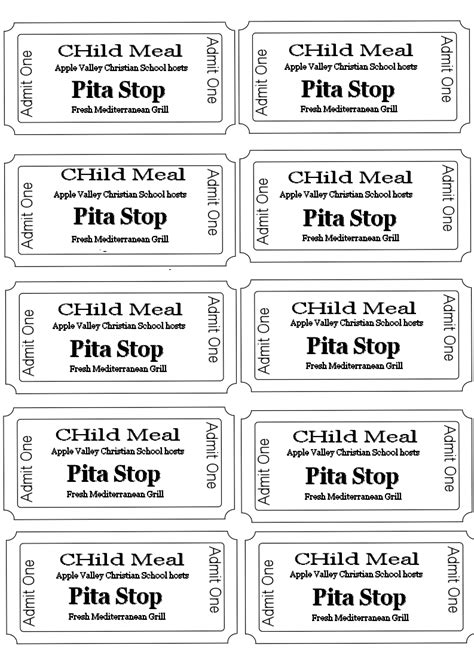 free printable meal tickets doc food tickets template lunch ticket template 79
