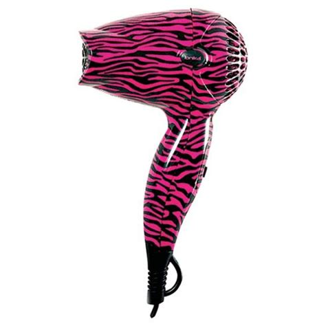 Ionika Mini Hair Dryer buy ionika pink zebra print mini dryer from our hair dryers range tesco