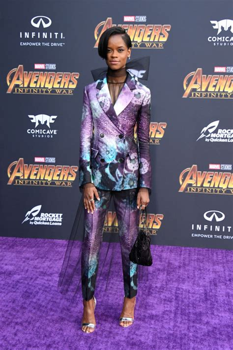 letitia wright avengers endgame here s how letitia wright channeled shuri with her outfit