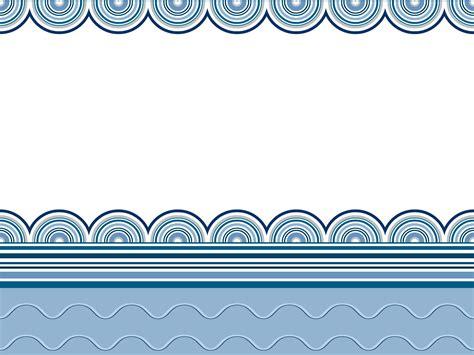 Wavy Border Frames Backgrounds Blue Border Frames Navy Templates Free Ppt Backgrounds Powerpoint Border Templates