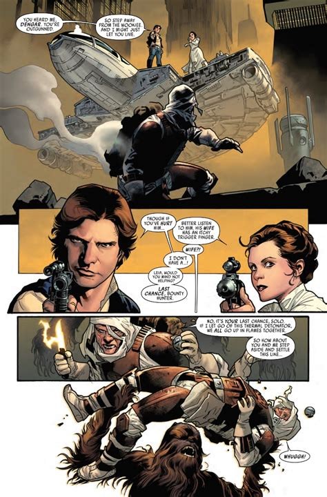 wars vol 2 showdown on the smuggler s moon chewbacca vs dengar in wars 12 preview