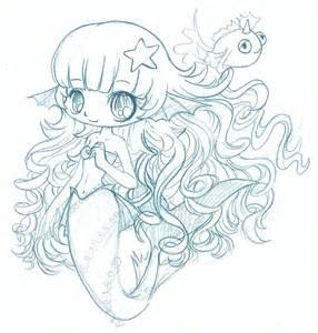 mermaid chibi sketch by yampuff on deviantart