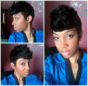27 layer black hairstyles curltagious my pixie cut 27 layer piece quick weave wig