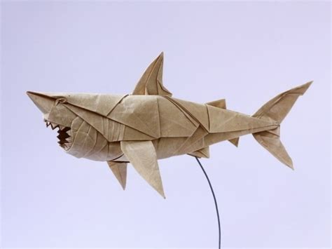 Origami Great White Shark - shark white paper great white origami paper and design