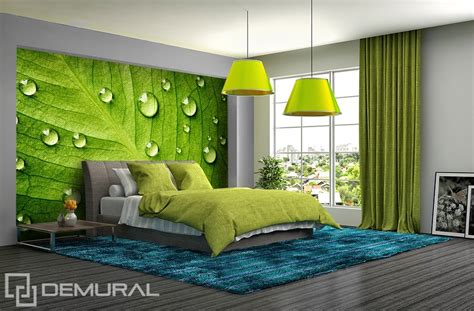 bedroom murals uk i feel the green walls with leafs bedroom wallpaper