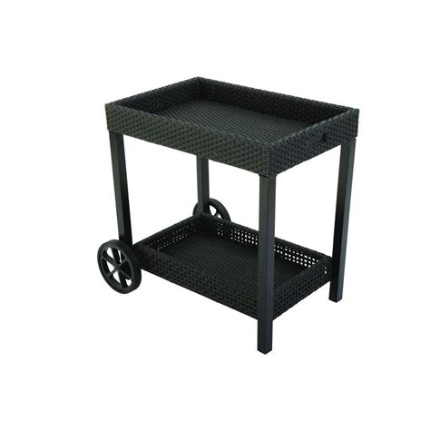 hton bay fenton patio serving cart dy9131 sc the home