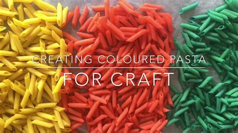 how to color pasta how to color pasta for craft