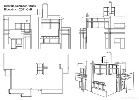 schroder house section fast sketch minimalism roa