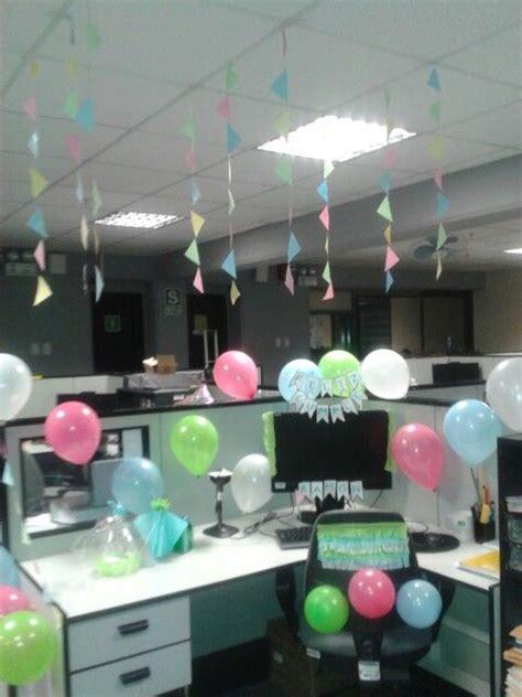 decoracion oficina cumpleaños jefa decoraci 243 n de oficina por cumplea 241 os techi pinterest