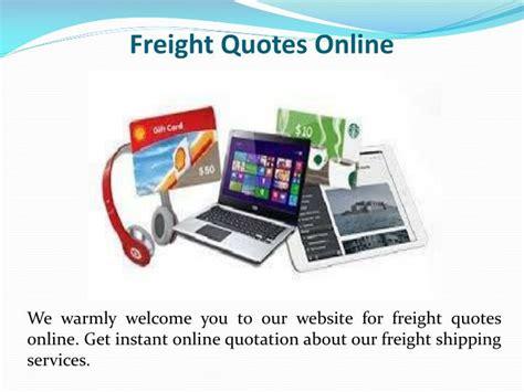 door to door freight quote ppt freight quotes powerpoint presentation id