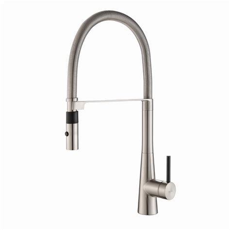 industrial style kitchen faucet kraus commercial style single handle pull down kitchen