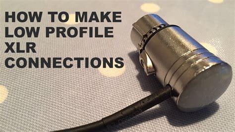 how to make diy low profile xlr