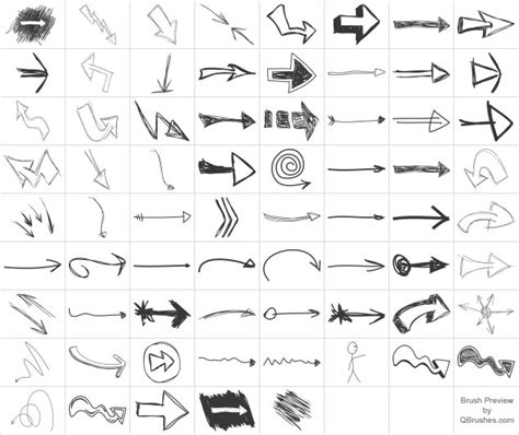 free doodle arrow font 30 free high quality photoshop arrow brushes collections