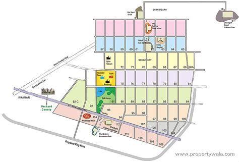 layout and land use of chandigarh ansal orchard county kharar mohali apartment flat