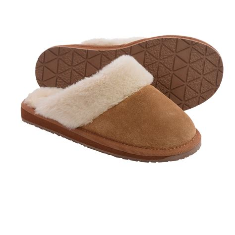 womens slippers minnetonka selma scuff slippers for save 33