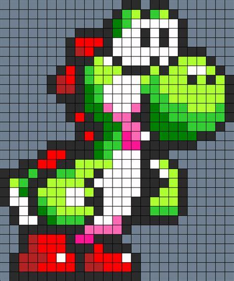 perler bead patterns yoshi perler bead perler bead pattern bead sprites