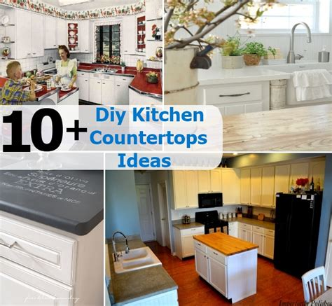 homemade kitchen ideas 10 diy kitchen countertops ideas diy home things