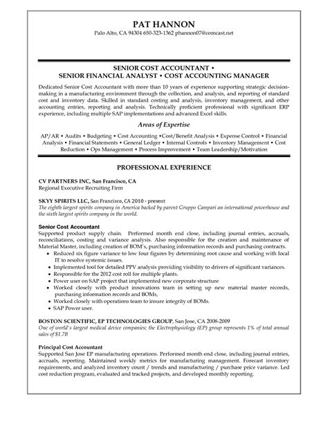 Free Resume Sle For Senior Accountant 28 sle senior accountant resume enernovva org