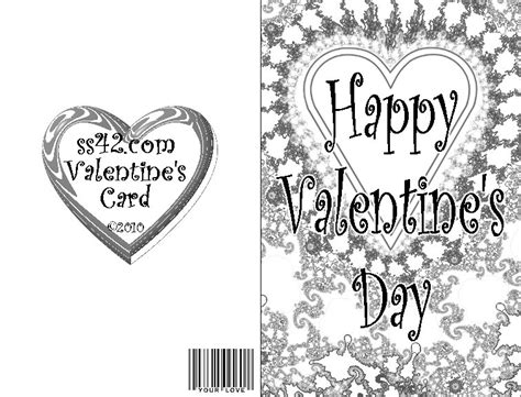black and white valentines day card template best photos of black and white s day card