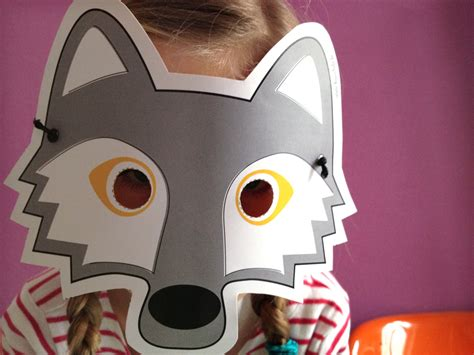 How To Make A Wolf Mask Out Of Paper - wolf mask for children pdf print it yourself by dieknuschels