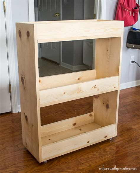 wooden laundry plans diy slim rolling laundry cart free plans