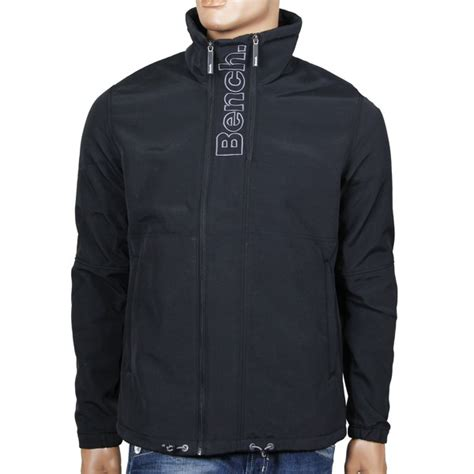 bench jacket mens bench implex c softshell jacket men s fleece black autumn