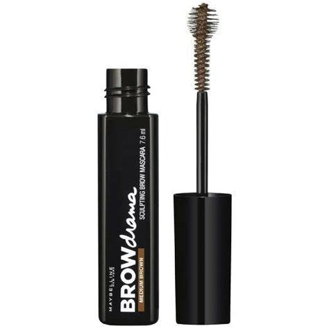 Mascara Maybelline Drama maybelline brow drama sculpting brow mascara medium brown 7 6ml