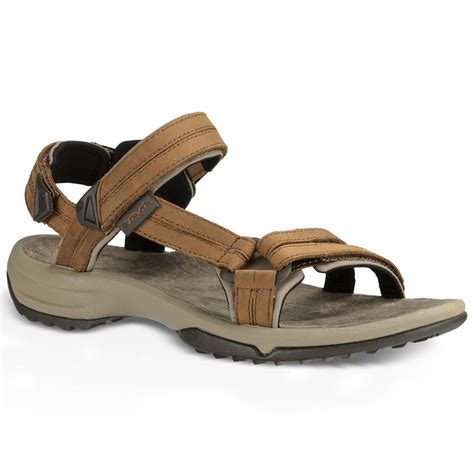 brown s sandals teva women s terra fi lite leather sandals brown