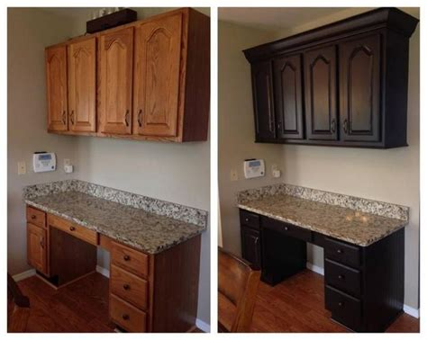 how to paint stained cabinets chocolate painted kitchen cabinets