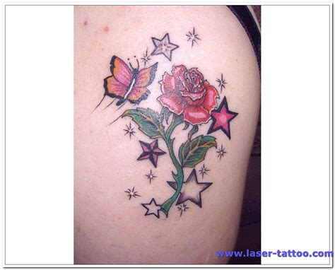 free tattoo designs for women flower and butterflies shoulder design for