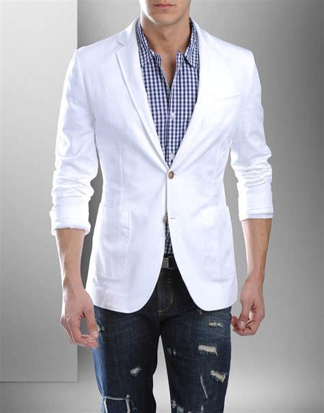 Blazer White D G Blazer Blue White S Fashion