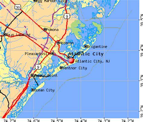 map of atlantic city nj atlantic city new jersey