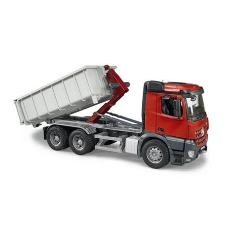 bruder toys mercedes bruder mb arocs truck with roll off container jadrem toys
