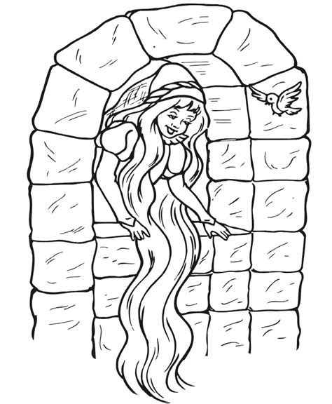 coloring page rapunzel tower free coloring pages of rapunzel tower