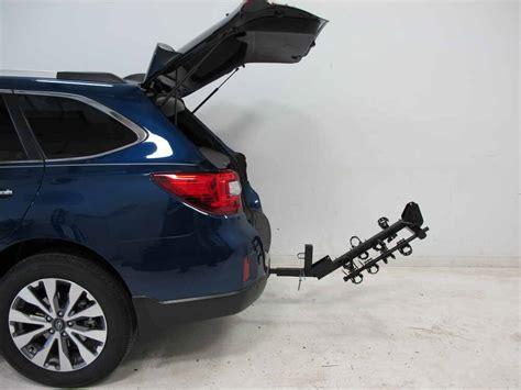 subaru outback wagon thule hitching post pro folding tilting  bike rack  anti sway
