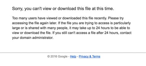 drive quota exceeded tải file google drive khi gặp th 244 ng b 225 o download quota