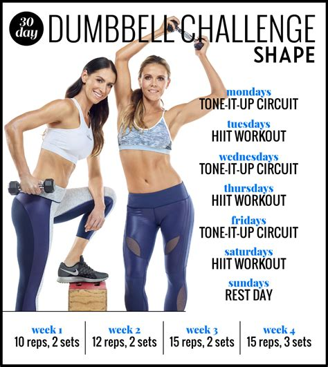 grab your dumbbells for a 30 day challenge from the tone