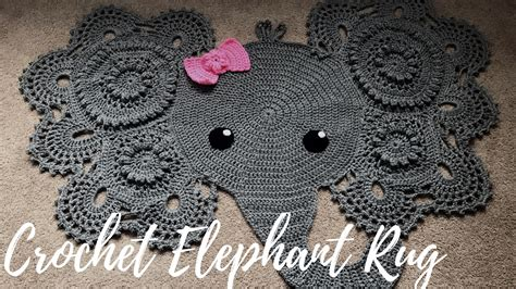 Elephant Rug Pattern Free by Crochet Elephant Rug With Bow A Glimpse Into How