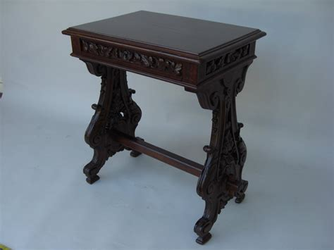 L Tables For Sale by L 19th C Italian Baroque Style Walnut Side Table For Sale