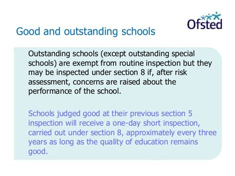section 8 inspection list section 8 ofsted 28 images preparing for a ofsted