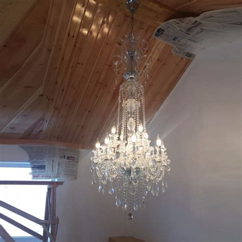 Chandelier For High Ceiling Aliexpress Buy Large Chandeliers Living Room Chandeliers Foyer Bohemian