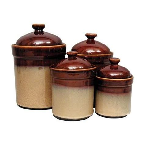 brown kitchen canister sets sango sango brown canister set home and garden