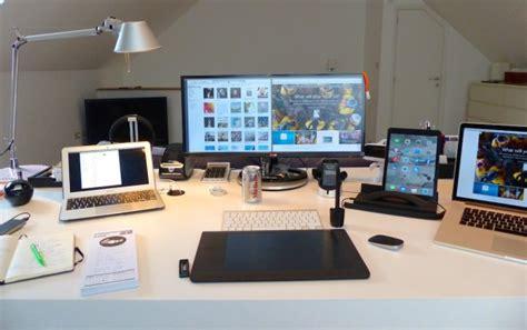 mac desk accessories mac setups the desk of a creative services managing director