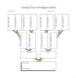 Pedigree Family Tree Template by Family Tree Template 37 Free Printable Word Excel Pdf