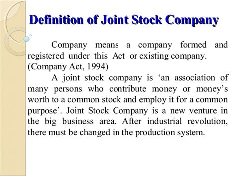 stock photo company joint stock company