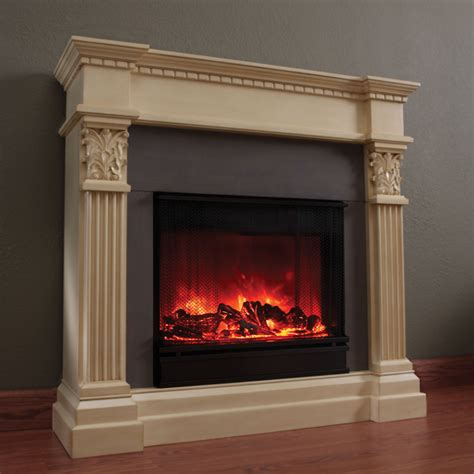 antique white electric fireplace d168 l6700e antique white gallery place by real