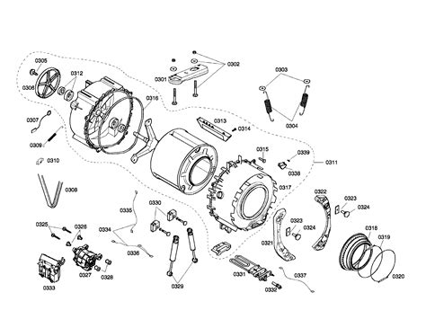 bosch washer parts diagram drum assembly diagram parts list for model wfmc640suc01