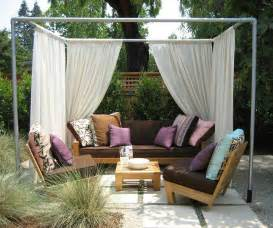 Diy Outdoor Gazebo Curtains by Pvc Pipe Gazebo Pvc Pipe Projects Pinterest